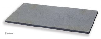 12 by 24 by 5/8's inch rectangular Crystolon conventional silicon carbide kiln shelf.