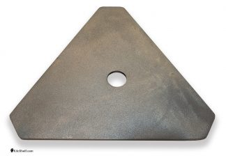 16 by 16 by 16 by 5/16's inch triangular Advancer plate stacker.