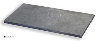12 by 24 by 3/4's inch rectangular Crystolon conventional silicon carbide kiln shelf.
