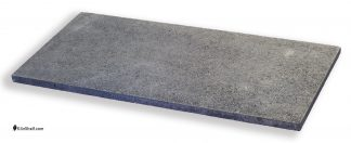 14 by 28 by 3/4's inch rectangular Crystolon conventional silicon carbide kiln shelf.
