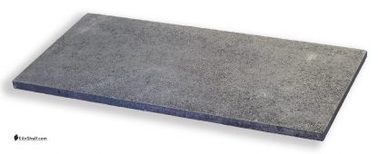 14 by 30 by 3/4's inch rectangular Crystolon conventional silicon carbide kiln shelf.