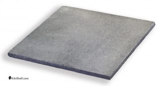 16 by 16 by 5/8's inch square Crystolon conventional silicon carbide kiln shelf.