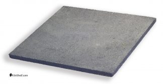 18 by 18 by 3/4's inch square Crystolon conventional silicon carbide kiln shelf.