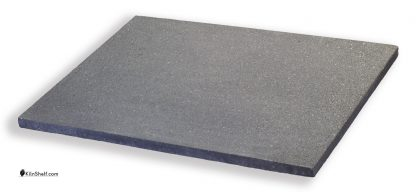 18 by 24 by 3/4's inch rectangular Crystolon conventional silicon carbide kiln shelf.